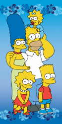 Osuška Simpsons family 2015  75 x 150 cm