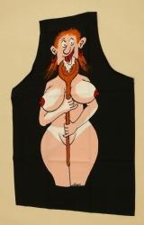 Zástěra s žertovným potiskem - žena
